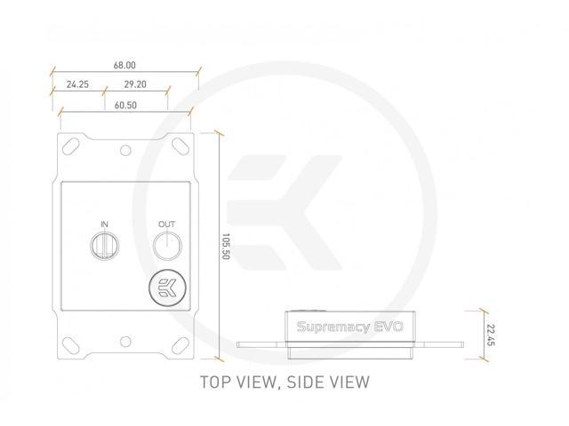 EKWB EK-Supremacy EVO AMD CPU Water Block (Nickel)