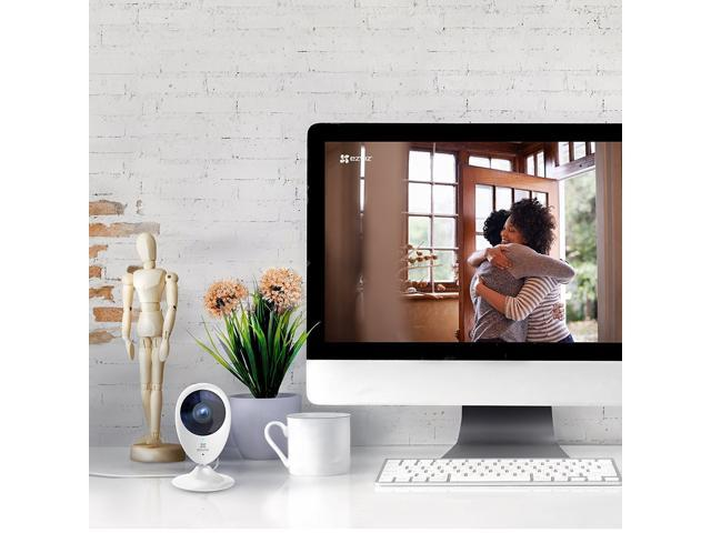EZVIZ Mini O 1080p - Wireless Wi-Fi Cloud Camera, Home Video Monitoring Security Camera, Works with Alexa- 2 Pack