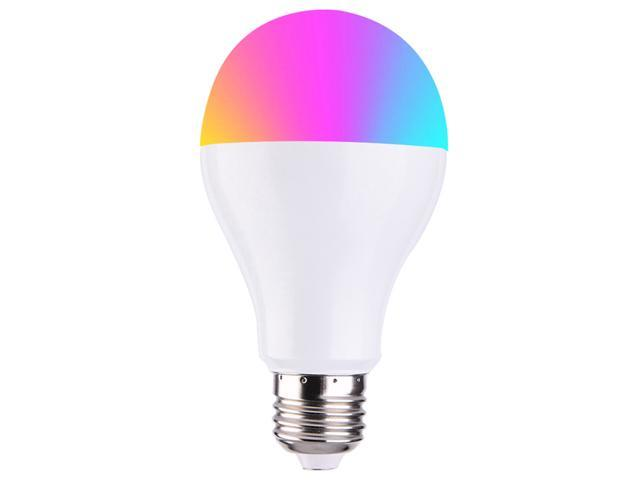 3PCS Geekbes E26 Smart WiFi LED Bulb APP Control 1600W RGB Color Light Works with Alexa and Google Home - White