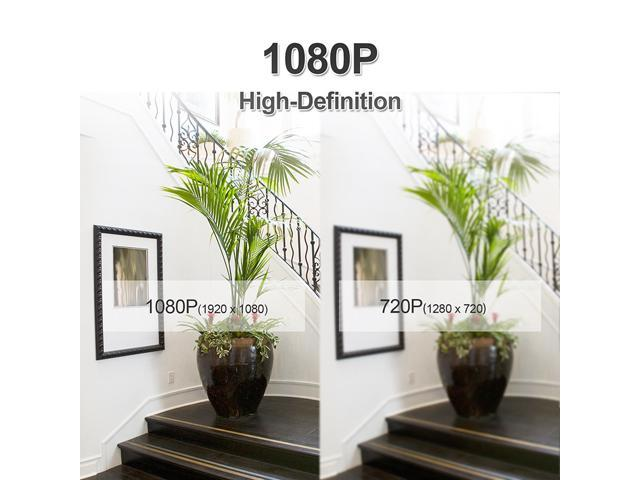 ANRAN 1080P Wifi IP Camera Home Video Surveillance Camera CCTV Night Vision Security Camera Pan 355°  Tilt 120° Two-Way Audio Baby Monitor 1920*1080 Max Support 128GB SD Card