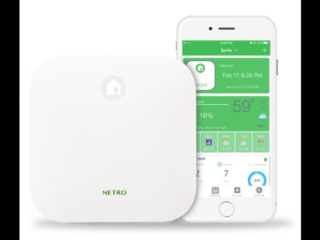 Netro Sprite Smart Sprinkler Controller, 12-Zone, WiFi, Weather aware, Remote control, Amazon Alexa and Google Home compatible
