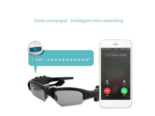 Sunglasses Bluetooth Headset Earphone Hands-free Phone Call For iPhone