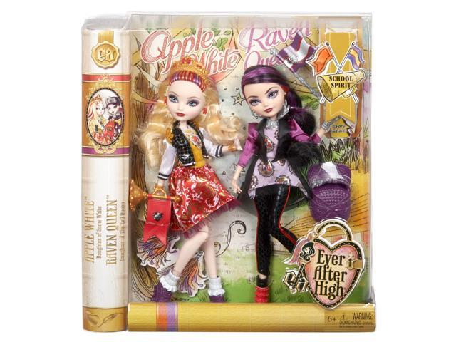 Ever After High School Spirit Apple White and Raven Queen Doll (2-Pack)