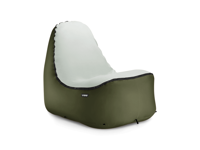 TRONO Inflatable Lounge Chair w/No-Strain Back Support | Don't Settle for a Laying on a Hammock Lounger, Hangout on an Easy-Inflate Comfy Compact Lightweight Durable Outdoor Sofa Couch Instead