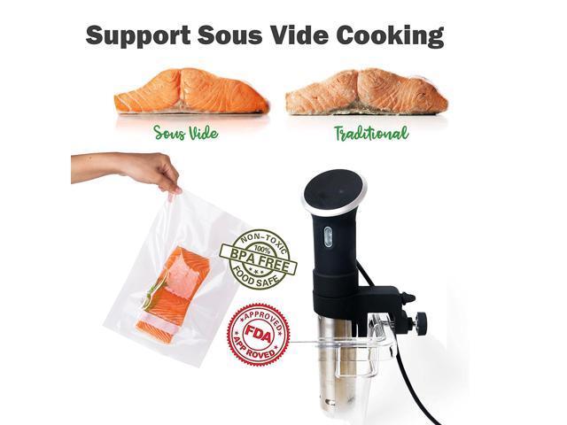 Freshlocker Food Saver Vacuum Sealer Bags 2 Pack 8''x50' Commercial Grade Bag Rolls for Foodsaver , Sous Vide