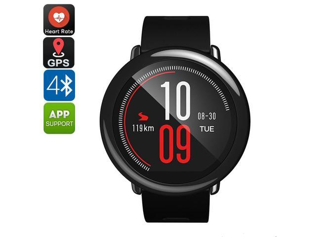 Xiaomi Huami AMAZFIT Pace Sports Smart Watch (Black) - Run Tracking, Phone-Free Music with Bluetooth 4.0, Heart Rate Monitor, GPS For Android iOS,  5 Days Battery Life, English Version