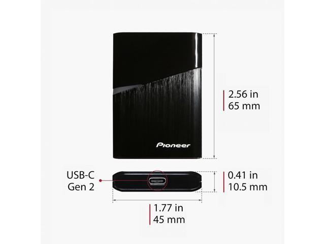 Pioneer USB-C 120GB portable SSD External SSD super small ultra slim(APS-XS02-120)