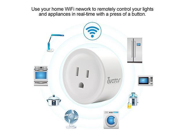 AvatarControls WiFi Smart Plug,Wireless Wifi Outlet Electrical ...
