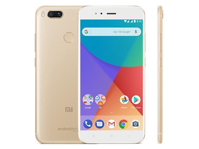 Xiaomi Mi A1, 4GB+64GB, Global Official Version Dual Back Cameras, Fingerprint Identification, 5.5 inch Android 7.1 Qualcomm Snapdragon 625 Octa Core up to 2.0GHz, Network: 4G, Dual SIM(Gold)