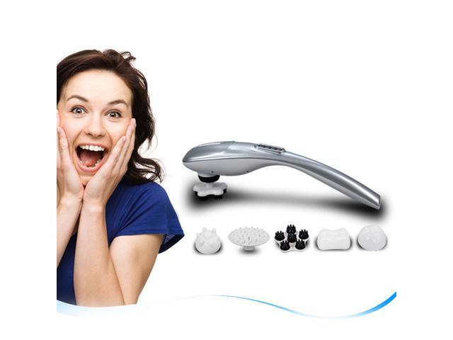 New Handheld Percussion Massager 5 Interchangeable Nodes 5 Modes Portable Electric Deep Tissue Massage