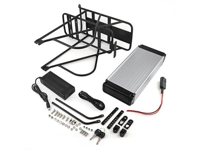 Universal 48V 14AH Bikes Battery Li-Polymer Rear Rack Holder With Charger Kit For Electric Ebike Bicycle Motor