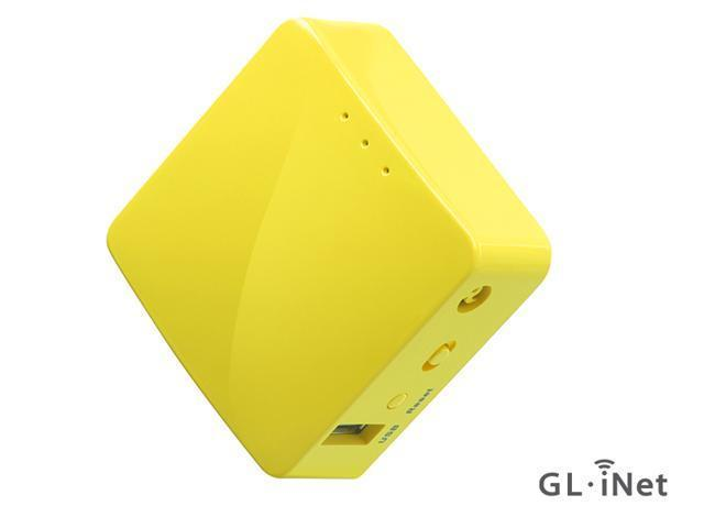 GL.iNet GL-MT300N-V2 Mini Travel Router, Repeater Bridge, 300Mbps High Performance, 128MB RAM, OpenVPN Client, Tor Compatible
