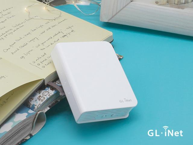 GL.iNet GL-AR750 Travel AC Router, 300Mbps(2.4G)+433Mbps(5G) Wi-Fi, 128MB RAM, MicroSD Storage Support, OpenWrt/LEDE pre-installed, Power Adapter and Cables Included