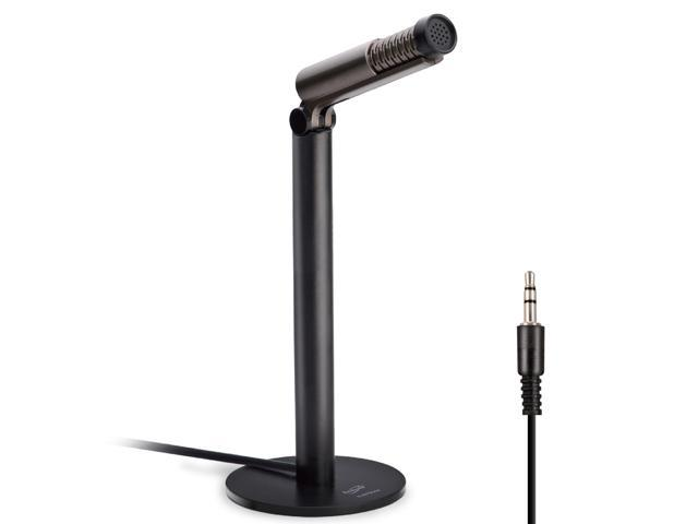 E-books B044 Noise-Canceling Adjustable Desktop Microphone Build in 3.5mm Jack for Home Studios Podcasters YouTubers Musicians Vocal Music Recording Skype Call Live Streaming Gaming - PC Mac iOS