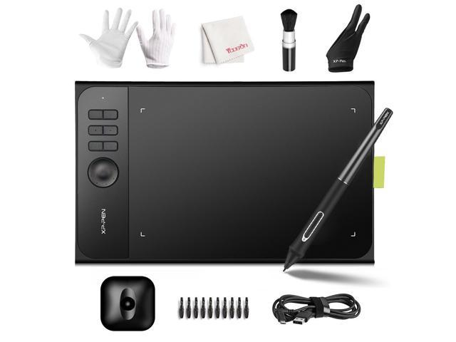 XP-Pen Star06c Drawing Tablet, 10x6 inch Active Surface Digital Drawing Tablet with 8192 Press Levels Battery Free Stylus, Customizable Hot Keys and Dial for Windows Mac OS Artist, Designer, Amateur