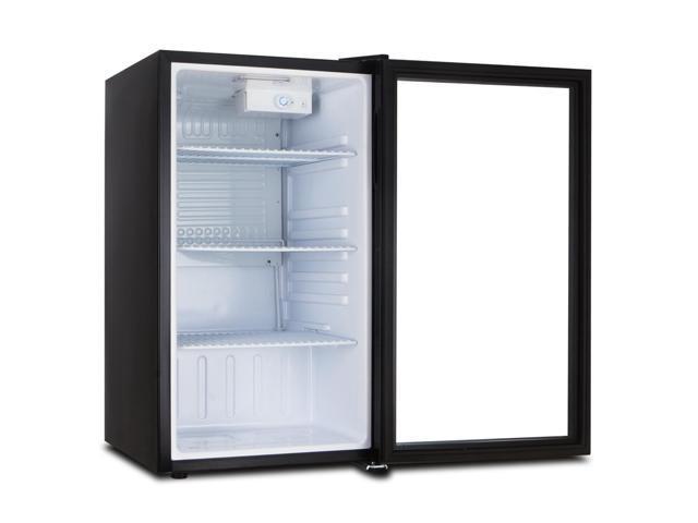 Della Beverage Refrigerator Cooler Compact Mini Bar Fridge Beer Soda Pop  Reversible Glass Door, ...