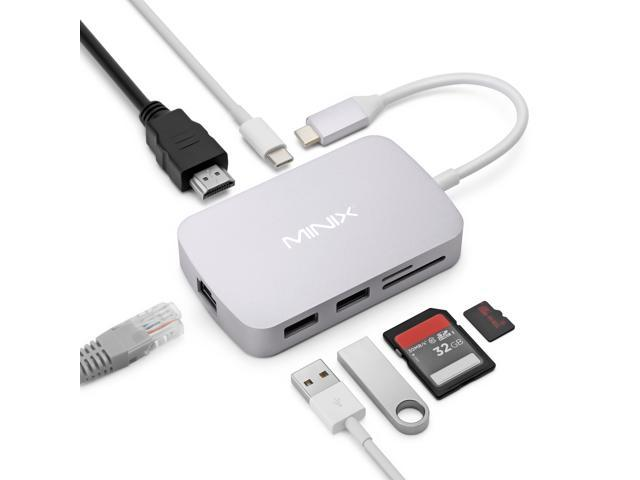 MINIX NEO C-X, USB-C Multiport Adapter with HDMI - Space Gray [10/100Mbps Ethernet] (Compatible with Apple MacBook and MacBook Pro). Sold Directly by MINIX Technology Limited.
