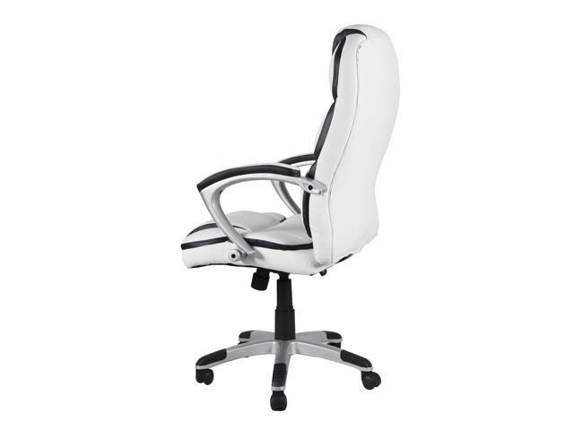 Classic White Ergonomic Executive Task Computer Office Chair with High-Back Swivel PU Leather ...  sc 1 st  Newegg Flash & Classic White Ergonomic Executive Task Computer Office Chair with ...