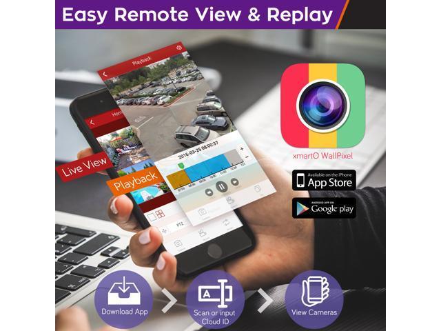 xmartO Auto-Pair 4 Channel 1080p HD Wireless Security Camera