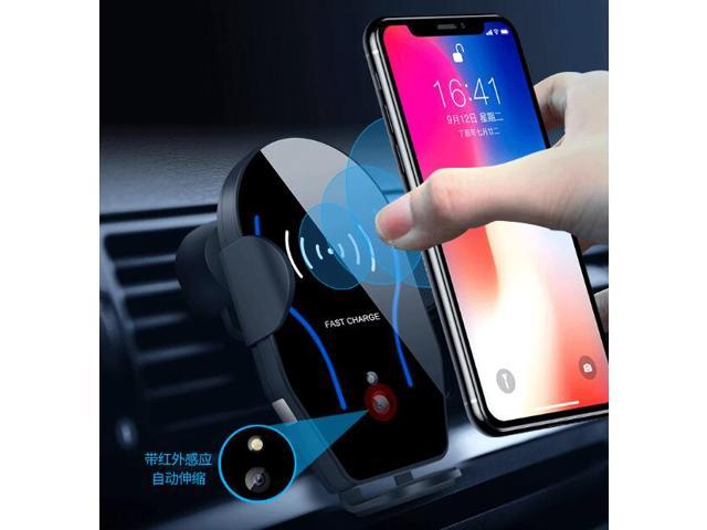 Car qi charger 10W 7.5 wireless charger compatible with for i Phone Xs/Xs Max/Xr/X/8/8plus Samsung Galaxy S7/S8/S9 Note 5/7/8 All Qi Enabled Device