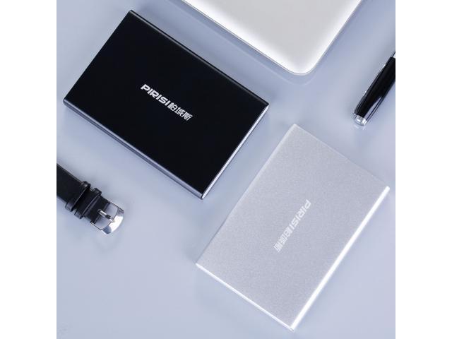 "2019 New Metal Silm PIRISI 2.5"" Shockproof Portable External Hard Drive USB3.0 80GB 120GB 160GB 250GB 320GB 500GB 750G 1TB 2TB (Black)"
