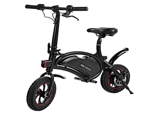 Ancheer Aluminum Folding Portable  Electric Bike 350W APP Speed Setting Black