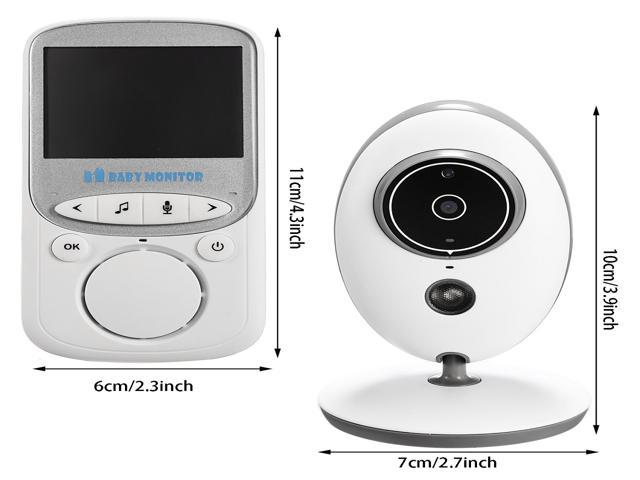 Wireless Video Baby Monitor with Infrared Night Vision Camera with Night Vision Two Way Audio for Security 2.4inch LCD Screen