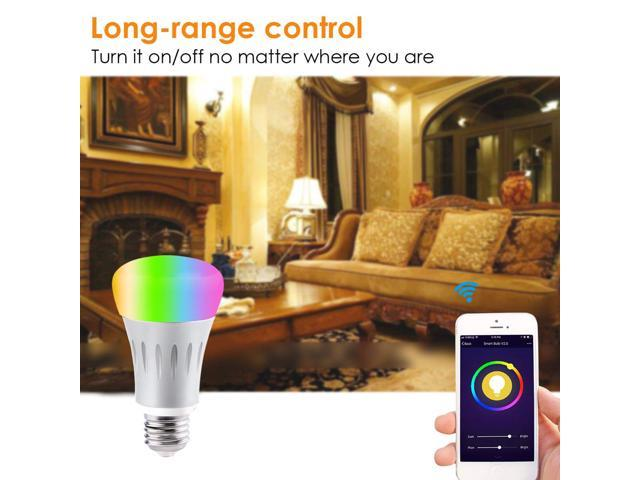 Wifi Smart LED Light Bulb E27 HTH-YW004-1 Multi-colored Smartphone Controlled