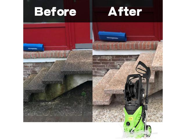 Electric Power Pressure Washer 2600 PSI 1.6GPM 1600W High Pressure Cleaner with Nozzles and Spray Gun