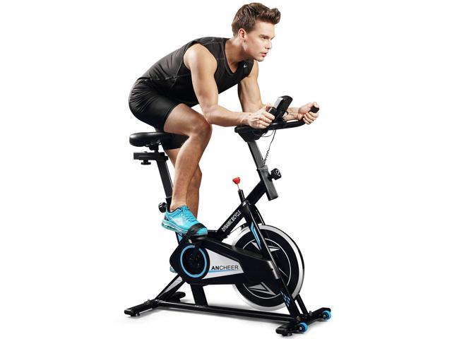 ANCHEER Indoor Cycle Exercise Belt Drive Pro Exercise Flywheel For Workout Fitness
