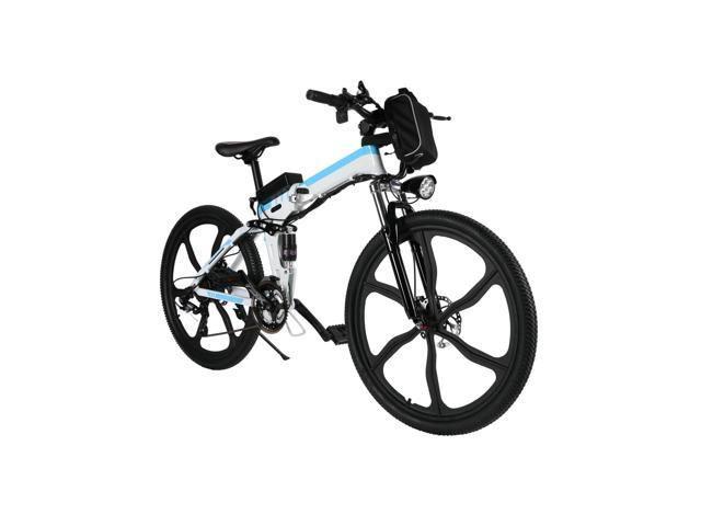 ANCHEER  electric mountain bike with Removable lithium-ion battery,26-inch 22-speed aluminum folding  Cyclocross  Bike