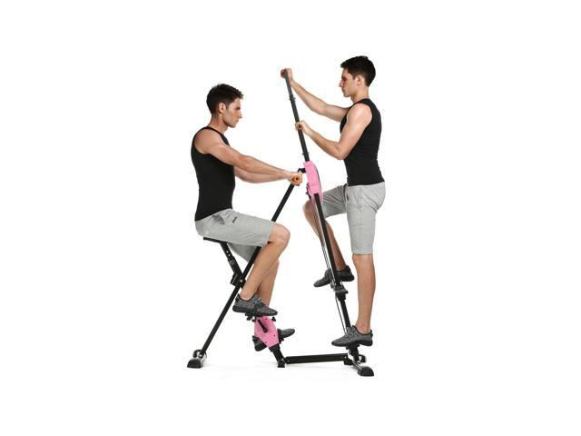 ANCHEER Vertical Climber Gym Exercise Fitness Machine Stepper Cardio Workout Training non-stick grips Legs Arms Abs Calf