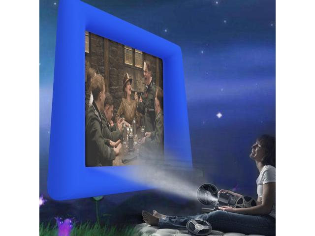 Airblown Outdoor Inflatable Movie Screen for a Backyard Theater