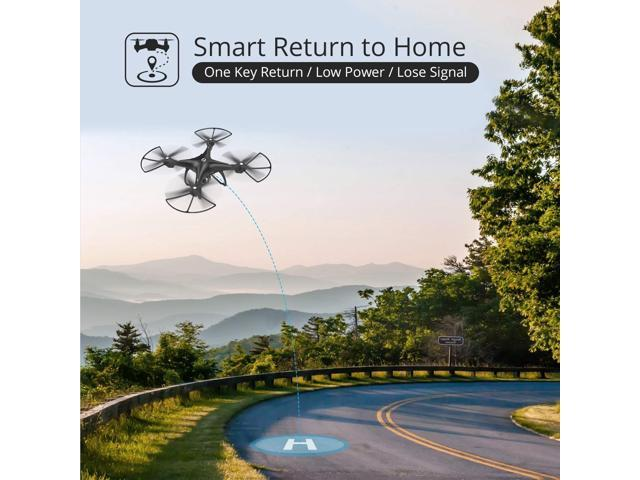 Holy Stone - HS100 Wifi FPV Drone with 1080P Camera and GPS, Black