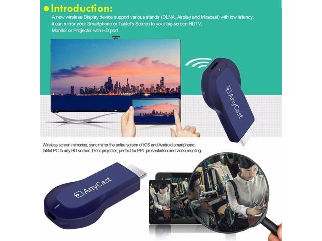 Dobacner (Updated Version) AnyCast HDMI Dongle TV Stick WiFi Display Receiver Miracast Airplay DLNA - Black