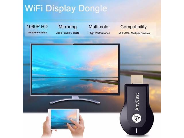 Dobacner (Updated Version) AnyCast HDMI Dongle TV Stick WiFi Display Receiver Miracast Airplay DLNA - Rose Gold