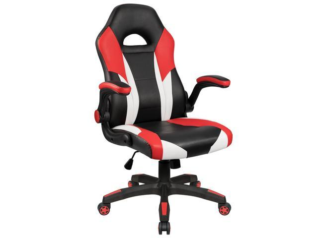 homall gaming chair desk chair racing style with wide seat flip up