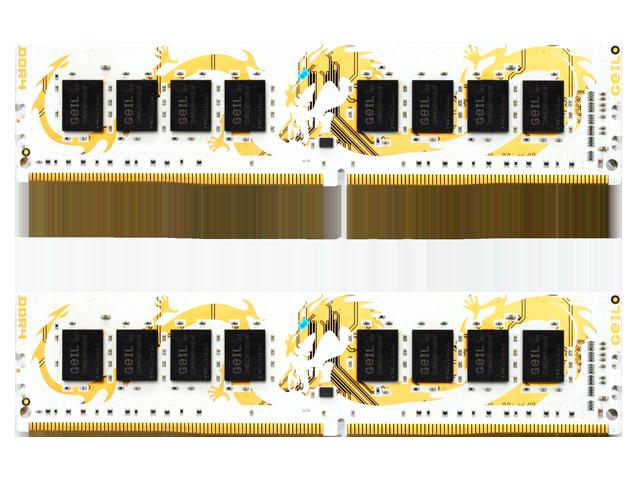 GeIL DRAGON RAM AMD Edition 16GB (2x8GB) 288-Pin DDR4 SDRAM DDR4 2400 (PC4 19200) Desktop Memory Model GAWB416GB2400C16DC