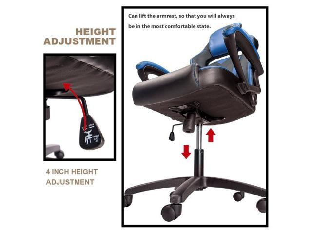 HELLOLAND Merax Office Chair Computer Gaming Desk Chair Racing Style High Back Racing Chair