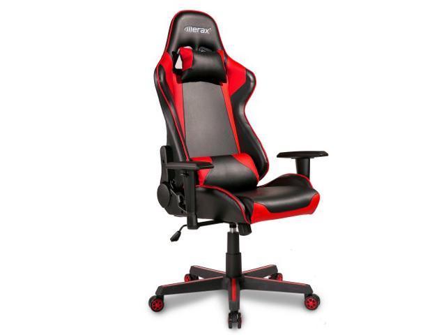 HELLOLAND Merax Racing Style Gaming Ergonomic Design High-Back PU Leather Chair, 27.6