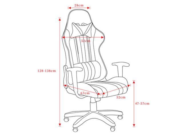 PU leather High Back Swivel Chair Racing Gaming Chair Black & Red