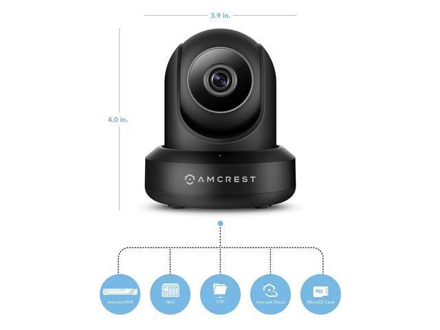 Amcrest HDSeries 720P WiFi IP Video Security Surveillance Camera, Plug/Play, Pan/Tilt, Two-Way Audio & Night Vision IPM-721B (Black)