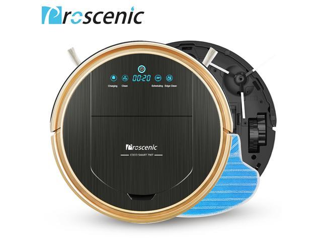 Proscenic 790T Robot Vacuum Cleaner, Robotic Vacuum Cleaner with APP & Alexa Voice Control, Visionary Map, Water Tank and Mopping, HEPA Filtration for Pet Fur and Allergens US plug