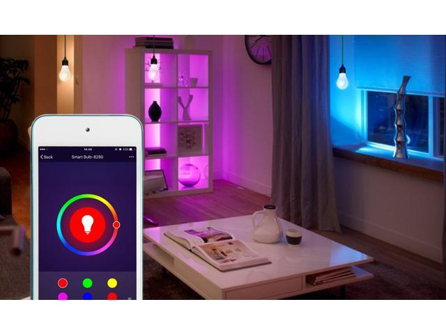 eco4life by Sonicgrace 3 Pack WiFi Smart Color Changing LED Bulb Works with Amazon Alexa Google Assistant IFTTT No Hub Required