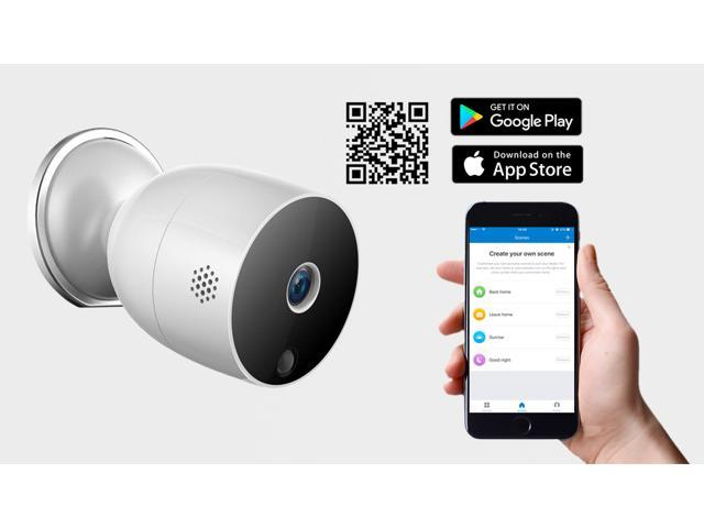 eco4life Smart Wi-Fi Wire-Free HD Indoor Outdoor IP Camera with Low Power Consumption