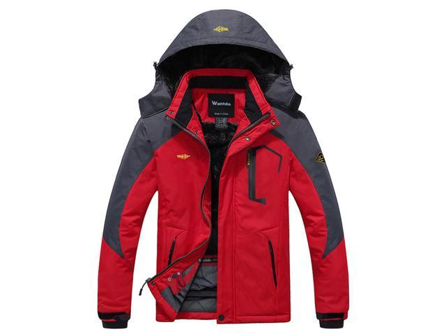 b5a9ce578 Wantdo Men's Mountain Waterproof Ski Jacket Windproof Rain Jacket ...