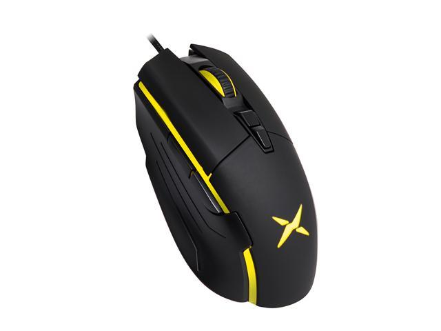 Delux Gaming&Office dual mode ergonomic mouse, Wired optical Gaming Mouse With 6400 DPI and 7 Programmable Button for PC Computer laptop gamer(M522BU-Black)