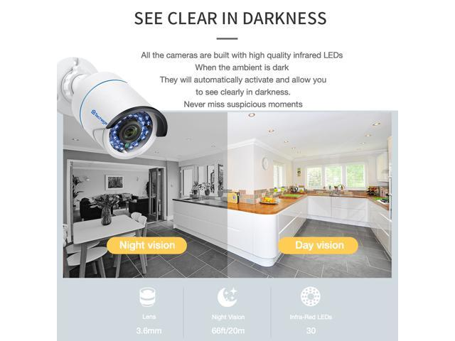 Techage 8CH 1080P POE NVR CCTV System Set Indoor Outdoor Waterproof Home Security Surveillance Kit With 8PCS Audio IP Camera