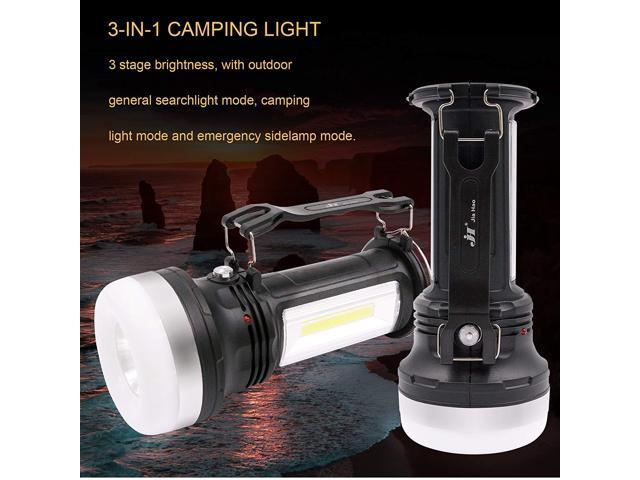 7TECH 3 in 1 LED Lantern Flashlight Solar Power Camping Lantern Waterproof Rechargeable Tent Light With Mirror