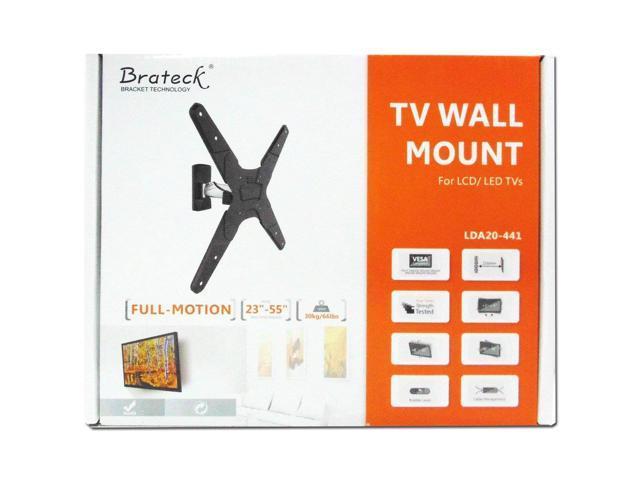 "Brateck Full Motion TV Wall Mount 23"" - 55"" Standard VESA up to 66 LBS"